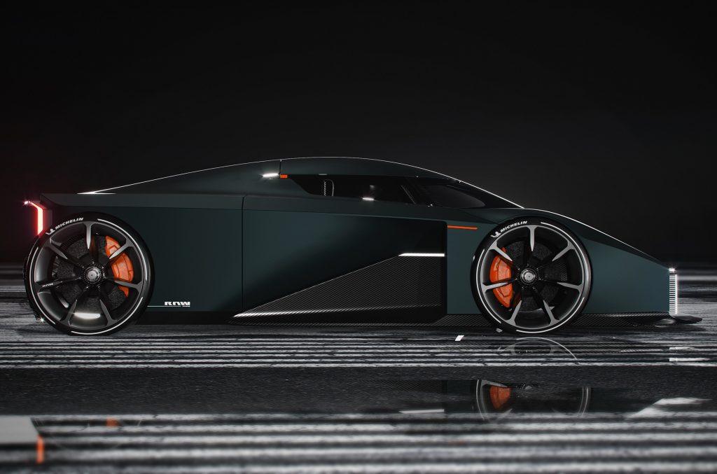 Koenigsegg RAW 2020, вид сбоку