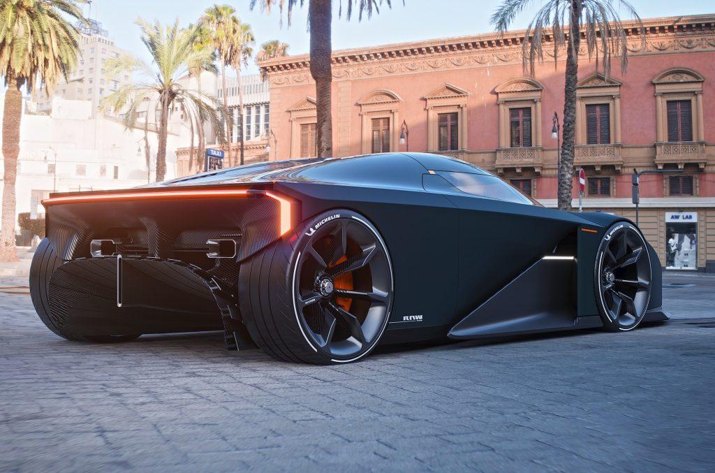 Новый Koenigsegg RAW, вид сзади