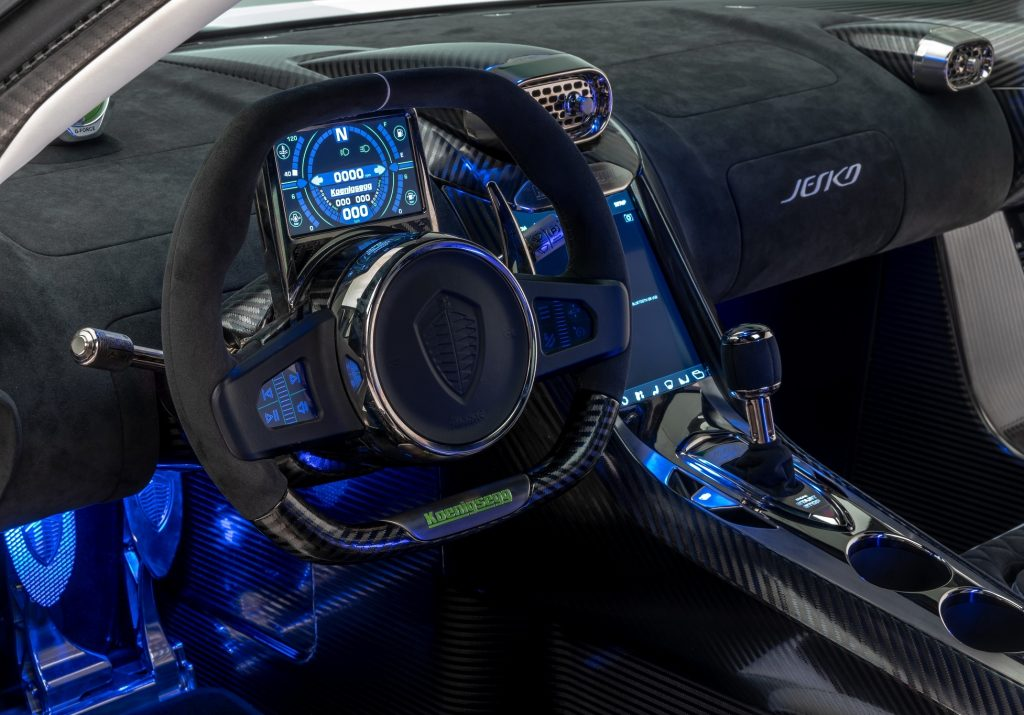 Koenigsegg Jesko Absolut, передняя панель