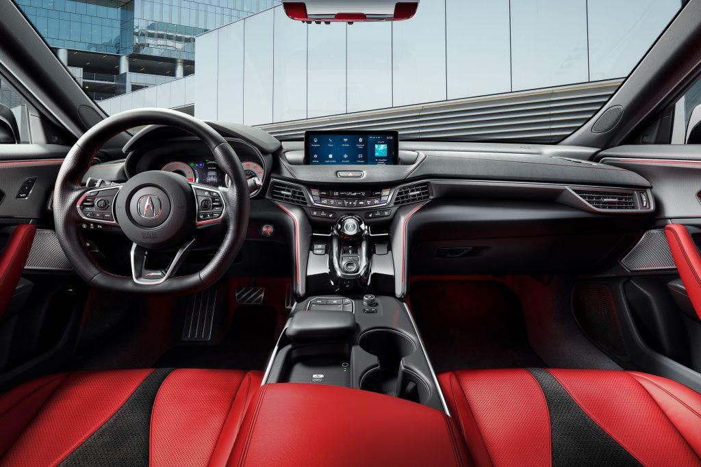 Новая Acura TLX, передняя панель