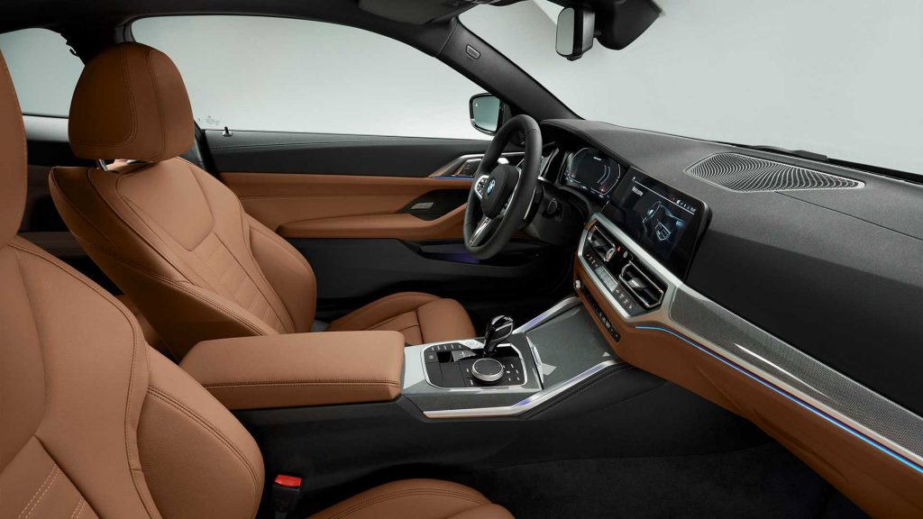 Новый BMW 4 Series, передние сиденья
