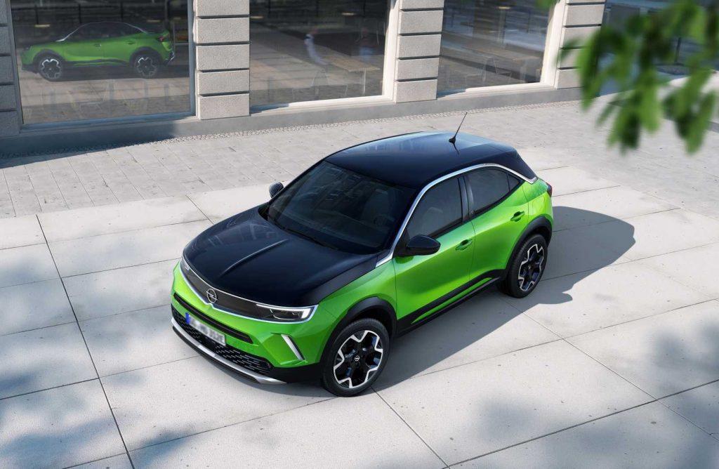 Новый Opel Mokka, вид сверху