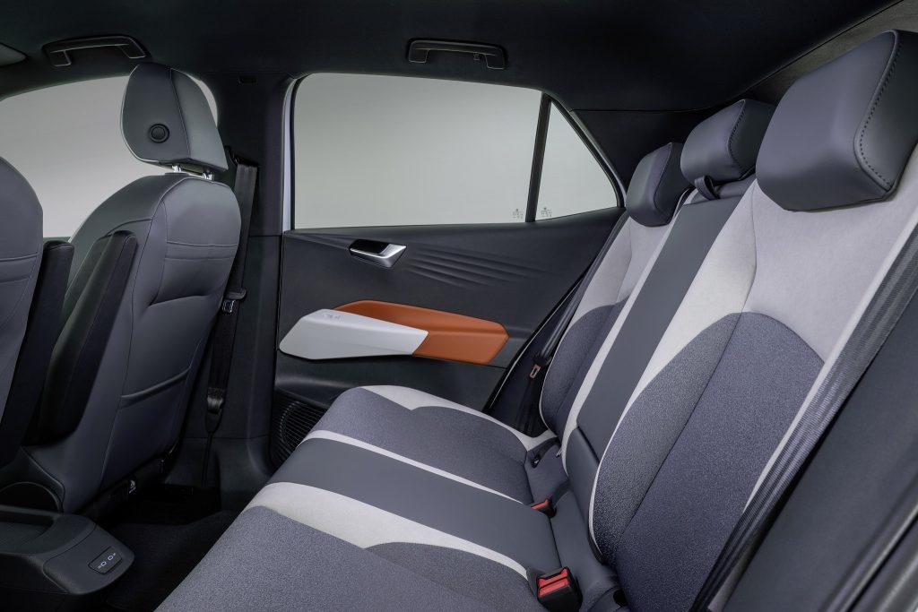 Volkswagen ID.3, задние сиденья