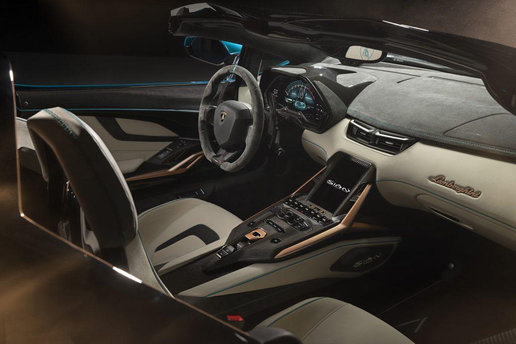 Lamborghini Sian Roadster 2020, салон