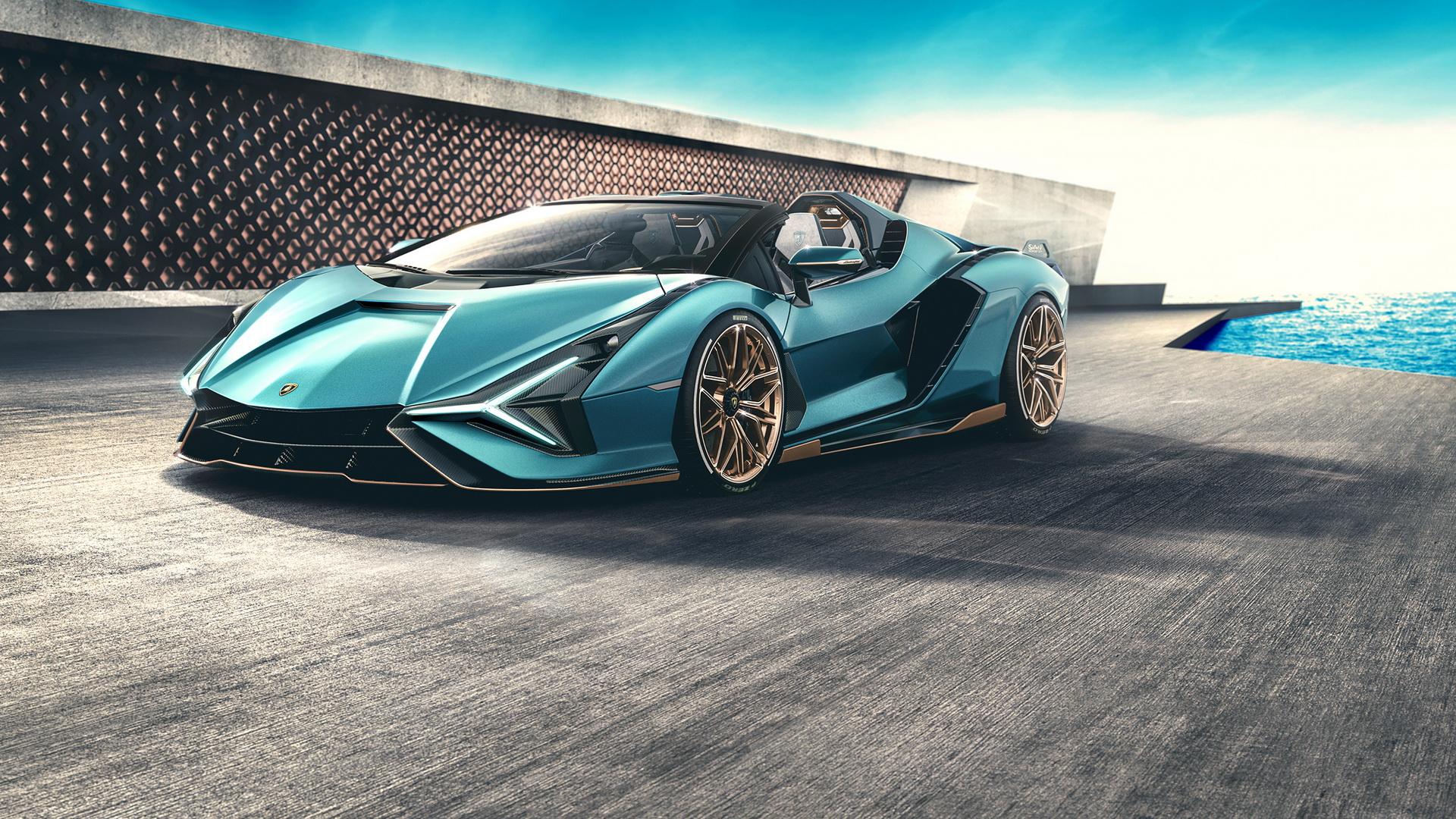 Lamborghini Sian Roadster 2020, вид спереди