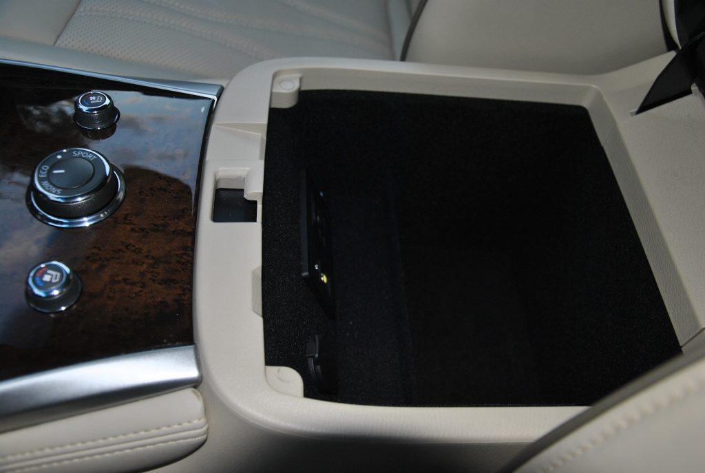 Infiniti QX60, бокс в подлокотнике