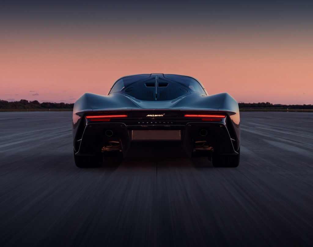 McLaren Speedtai 2020, вид сзади