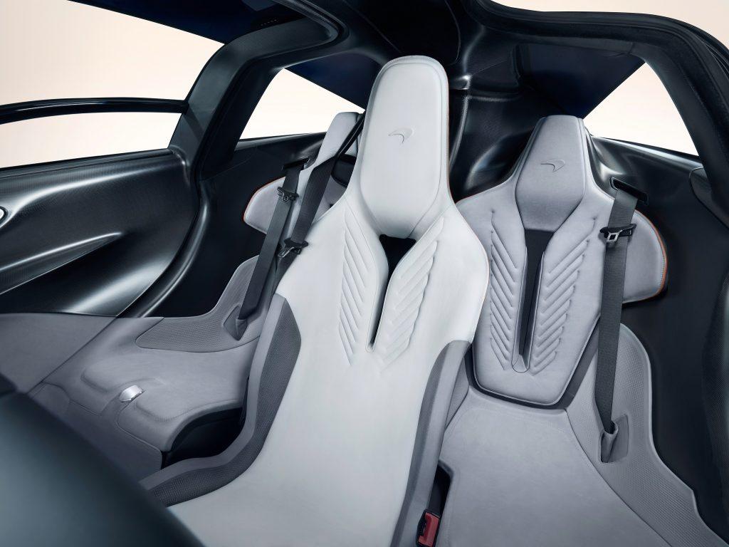 Новый McLaren Speedtai, сиденья
