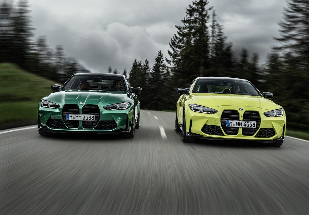 BMW M3 и M4, вид спереди