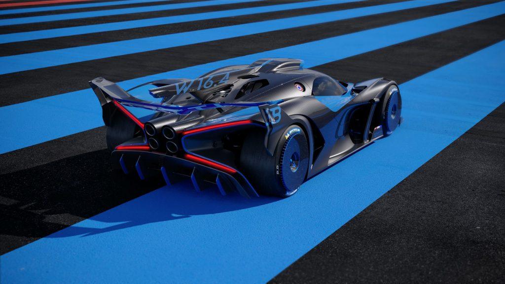 Bugatti Bolide 2020, вид сзади
