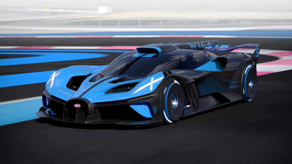 Bugatti Bolide 2020, вид спереди
