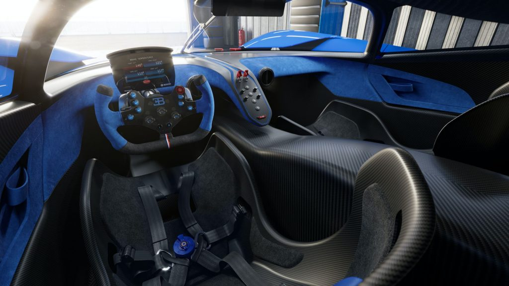 Bugatti Bolide 2020, салон