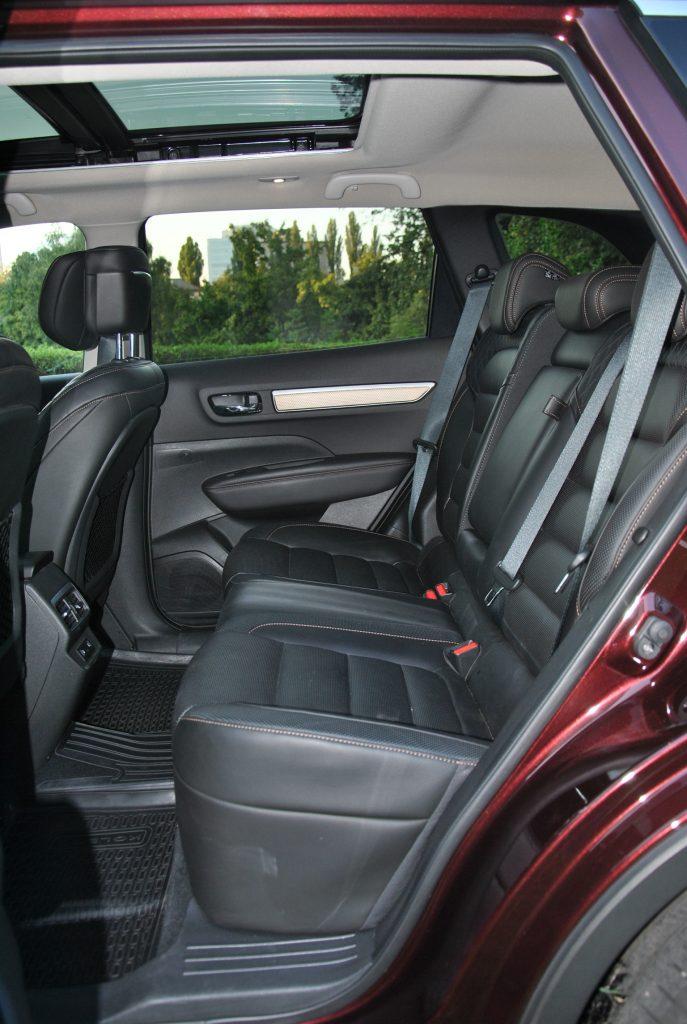 Новый Renault Koleos, задние сиденья