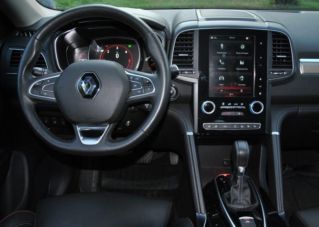 Renault Koleos 2020, передняя панель