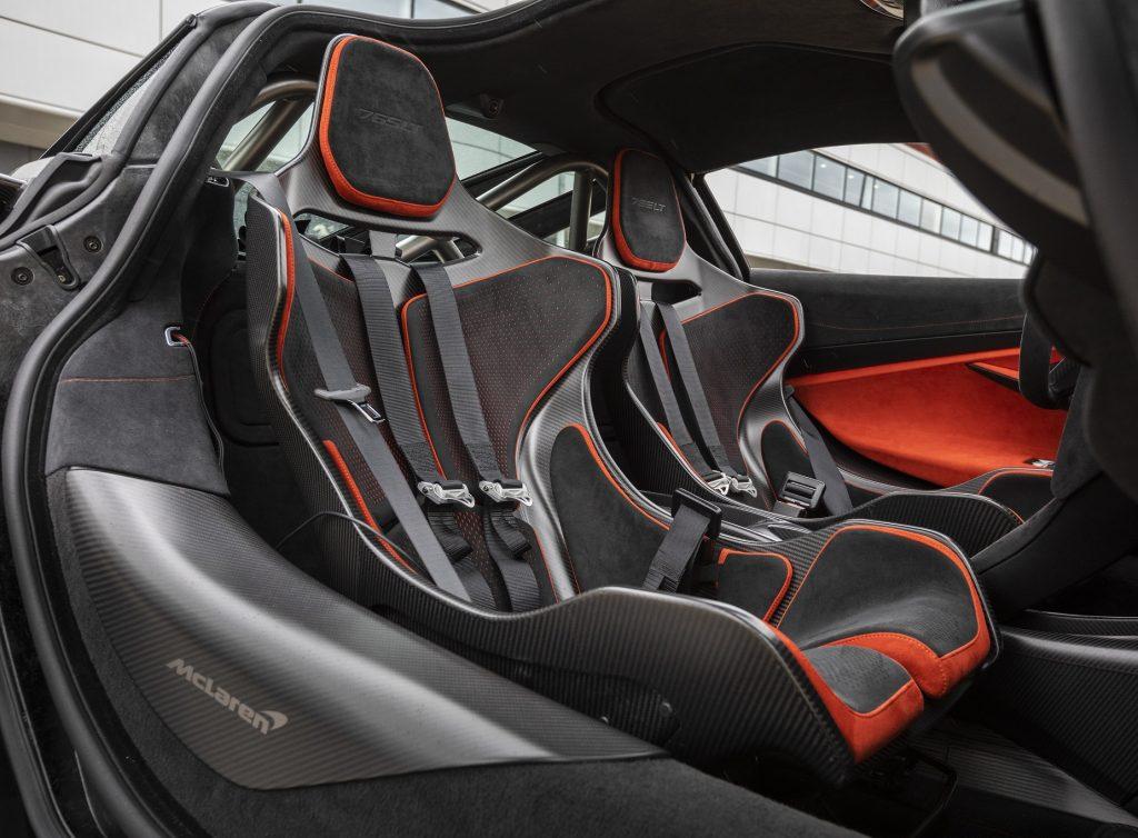 Новый McLaren 765LT 2020, сиденья