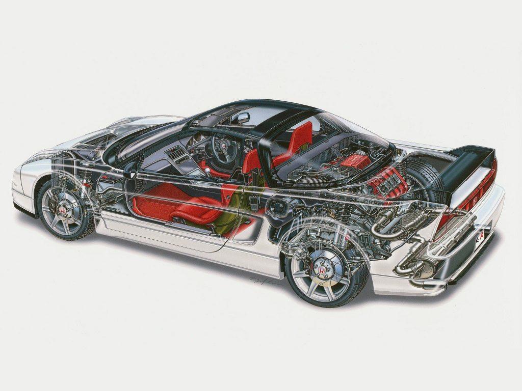 В основе автомобиля лежит монокок из алюминиевых сплавов
