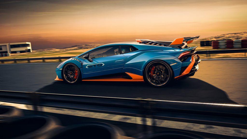 Lamborghini Huracan STO 2021, вид сбоку