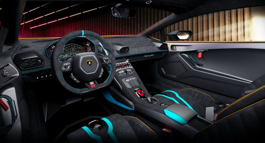 Lamborghini Huracan STO, салон