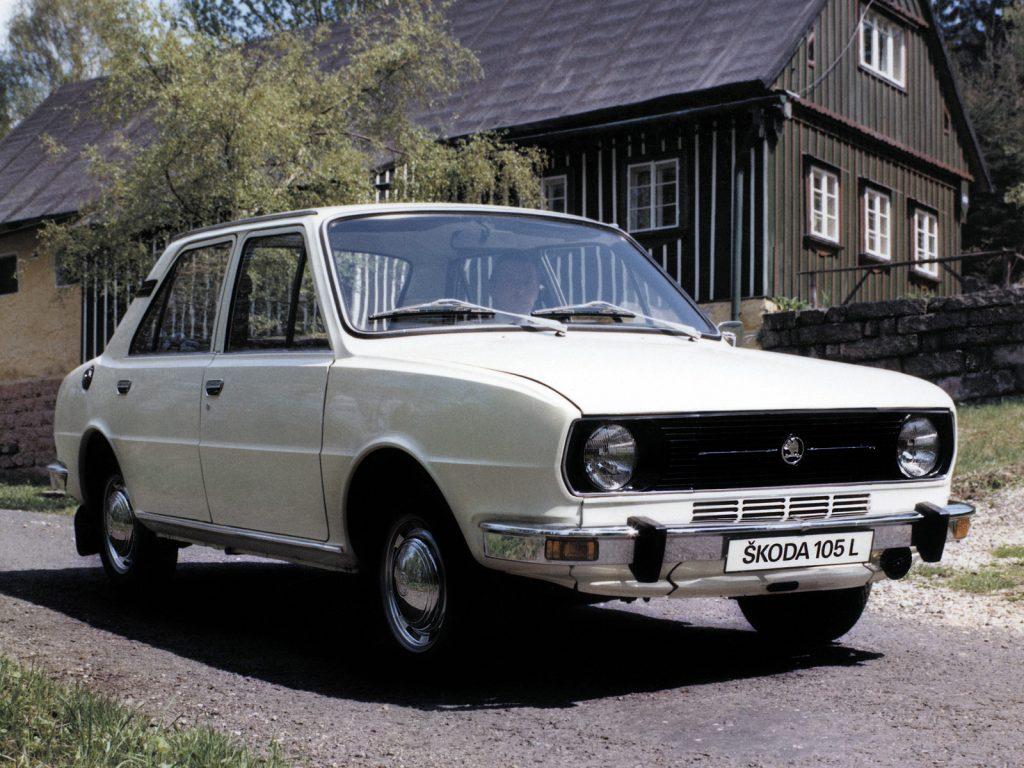 Skoda 105 1976 года
