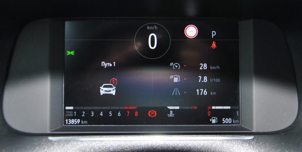 Opel Corsa, цифровая панель приборов
