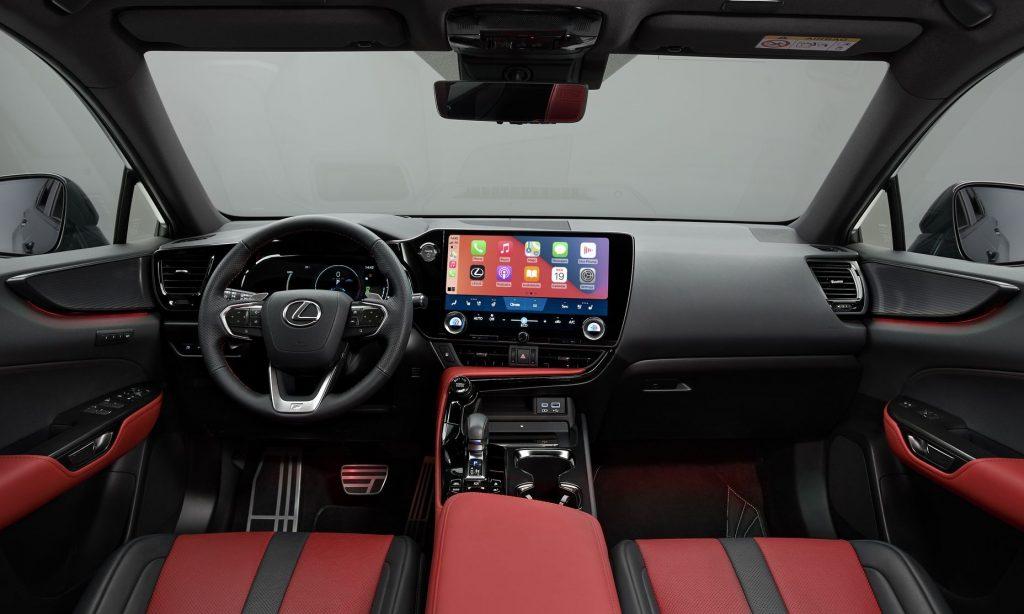 Lexus NX 2021, передняя панель