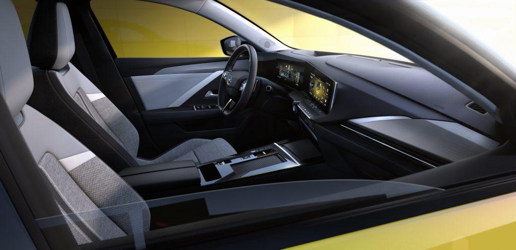 Opel Astra, передние сиденья