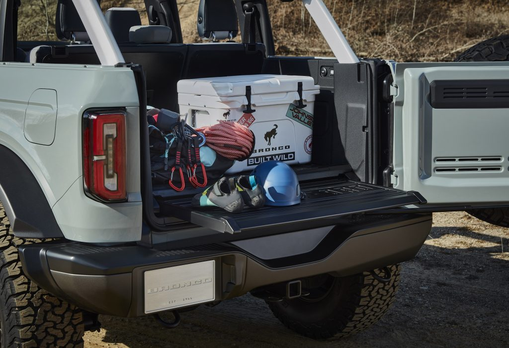 Ford Bronco 2021, багажник